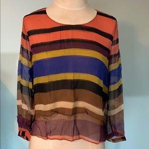 Anthropologie Maeve multi coloured silk shirt